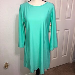 NWT Cabana Life UPF 50+ Swim Dress Cover Up Large